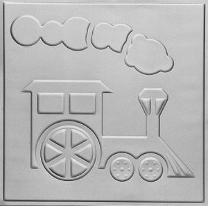 Toy Train - Tin Ceiling Tile - 24x24 - #2480