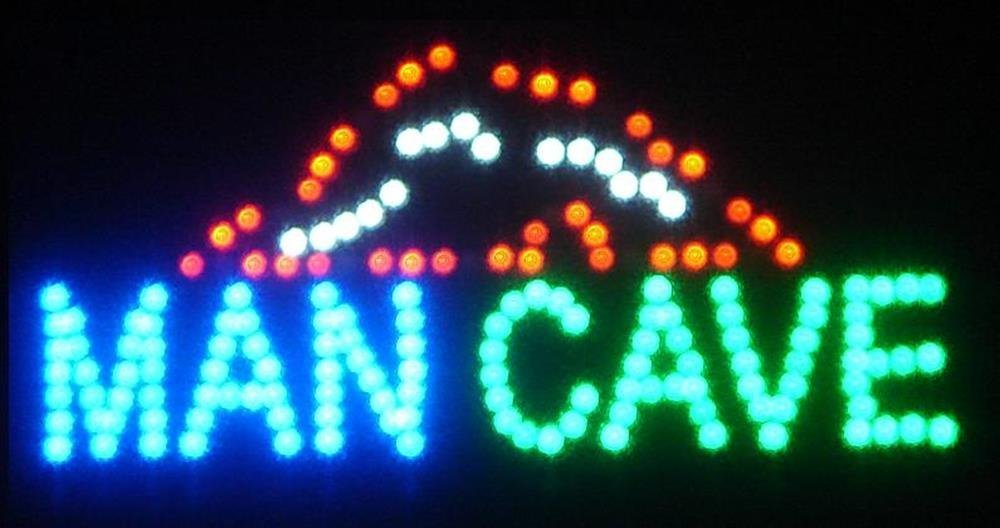 Man Cave Led Signs : Man cave neon led sign ceiling tile ideas