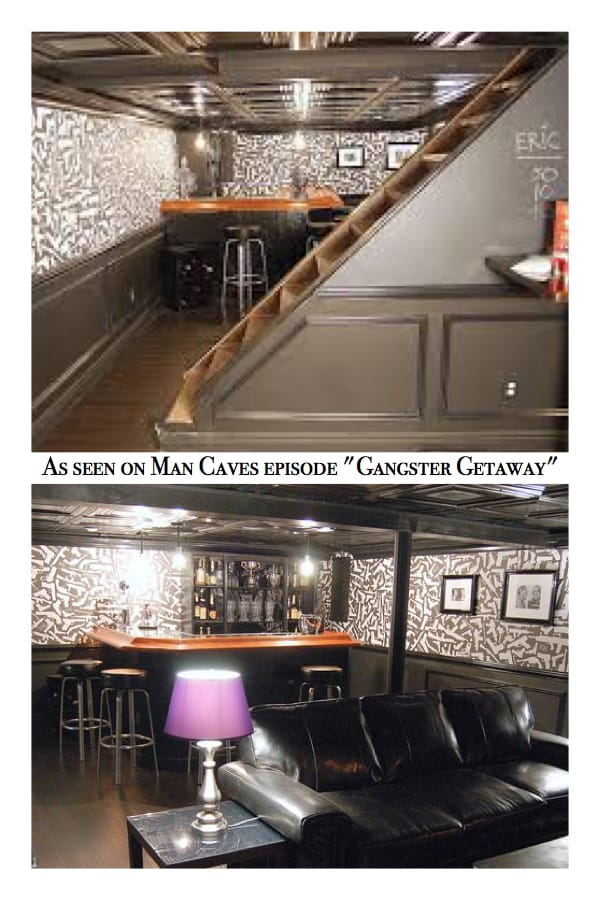 Black Ceilings as Seen on Man Caves Episode Gangster Getaway