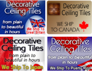 Worldwide Shipping of Decorative Ceiling Tiles